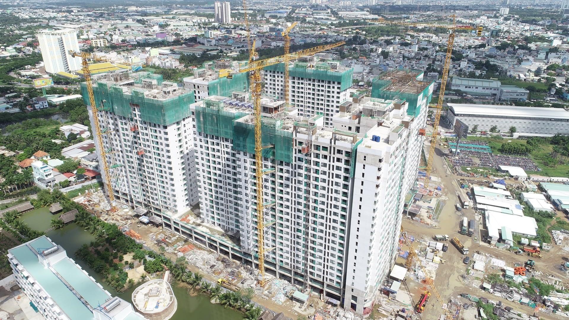 Tiến độ xây dựng Akari City