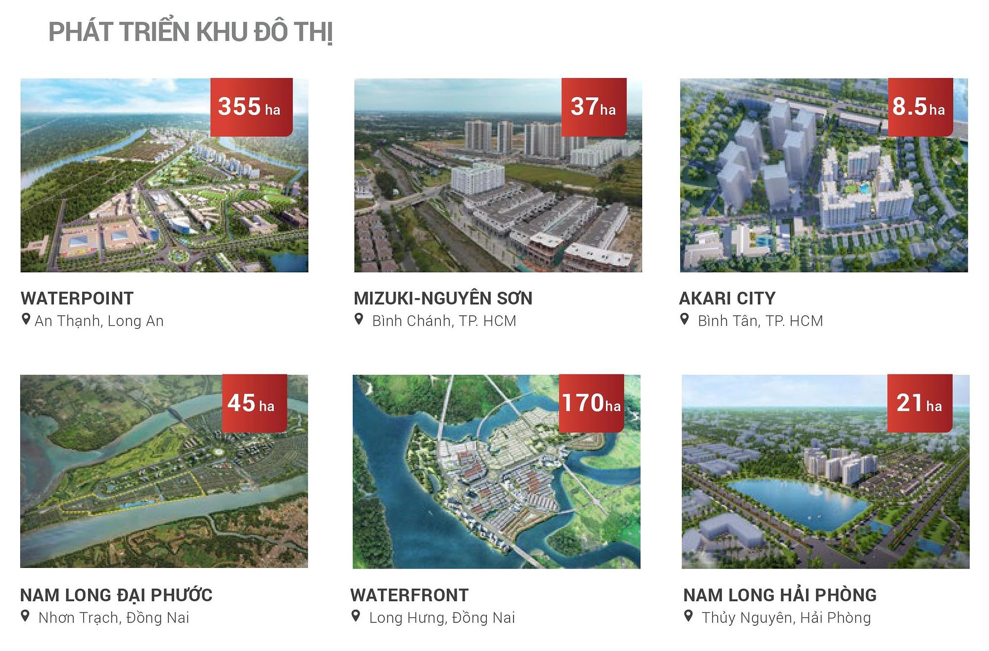 Các khu đô thị mới Nam Long